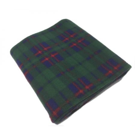 Check Green Polar Fleece Blankets 120x150cm