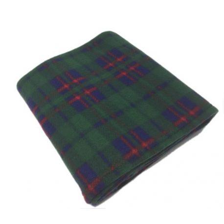 Check Green Polar Fleece Blankets 120x150cm