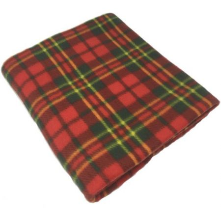 Check Red Polar Fleece Blankets 120x150cm