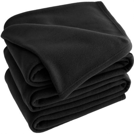 Black Polar Fleece Blankets