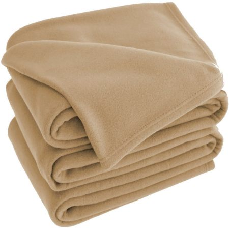 Latte Polar Fleece Blankets 120x150cm