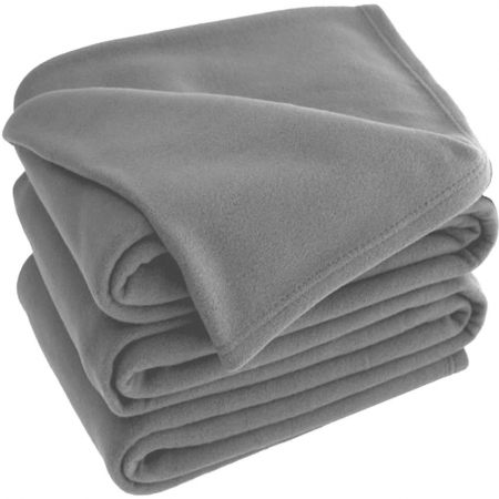 Grey Polar Fleece Blankets 120x150cm