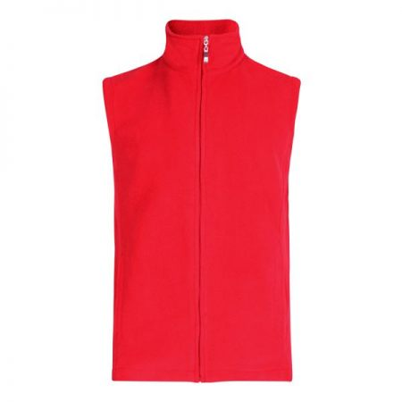 Micro Fleece Bodywarmer, Red (Sizes S-XL)