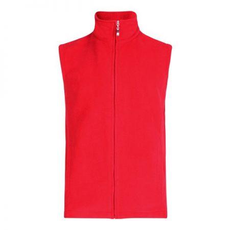 Micro Fleece Bodywarmer, Red (Sizes S-XL)