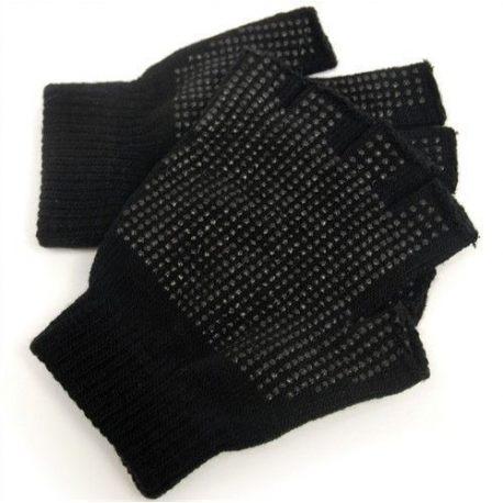 Fingerless Gripper Gloves, Black