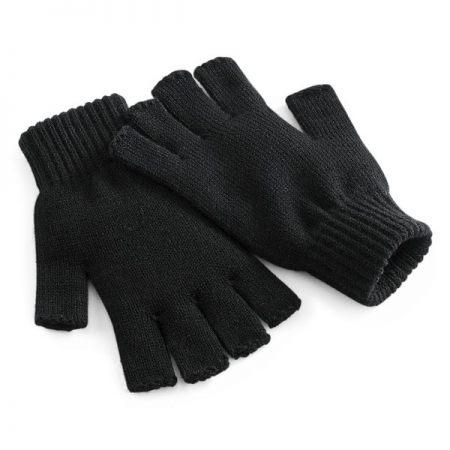 Fingerless Thermal Gloves, Black