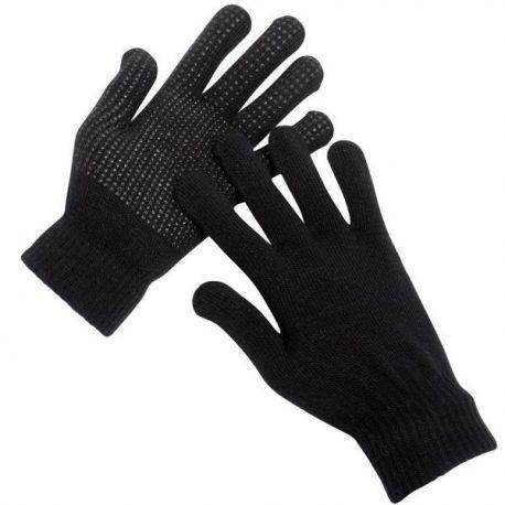 Thermal Gripper Gloves, Full Length, Black
