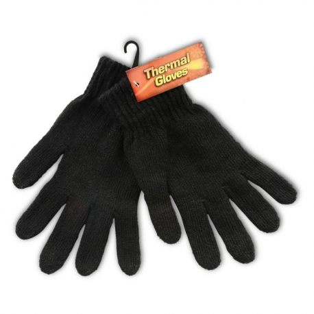 Thermal Gloves, Full Length, Black