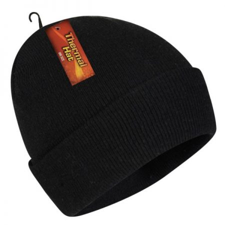 Thermal Winter Hat, Black