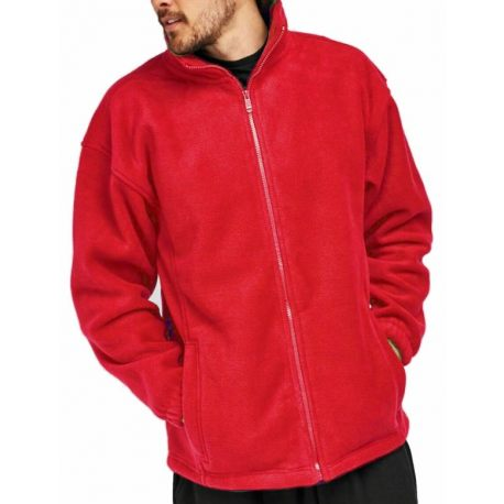 Thick Fleece Jacket, Red, Sizes S-3XL